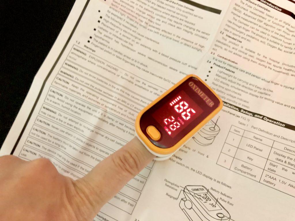 パルスオキシメーター計測値